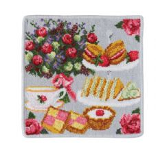 "Feiler Washcloth ""London Afternoon Tea"" Grey"